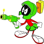 Marvin The Martian With Laser Vinyl Die-Cut Decal / Sticker ** 4 Sizes **