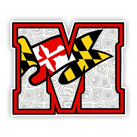 Maryland Terrapins H Die Cut Decal 4 Sizes