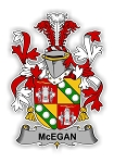 McEgan Family  Crest Vinyl Die-Cut Decal / Sticker ** 4 Sizes **