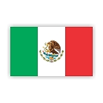 Mexico Flag  Vinyl Die-Cut Decal / Sticker ** 4 Sizes **