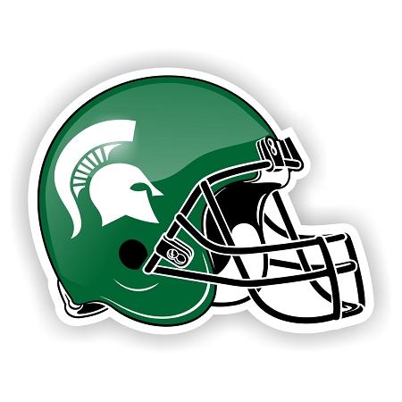 Michigan State Helmet Die Cut Decal Sticker 4 Sizes