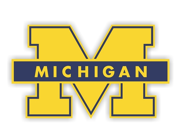 Michigan University Wolverines B Die Cut Decal 4 Sizes