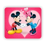Mickey Mouse & Minnie, Mouse Pad  9.25