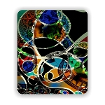 Modern Art Money Abstract Mouse Pad 9.25