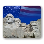 Mount Rushmore (Flag) Mouse Pad  9.25
