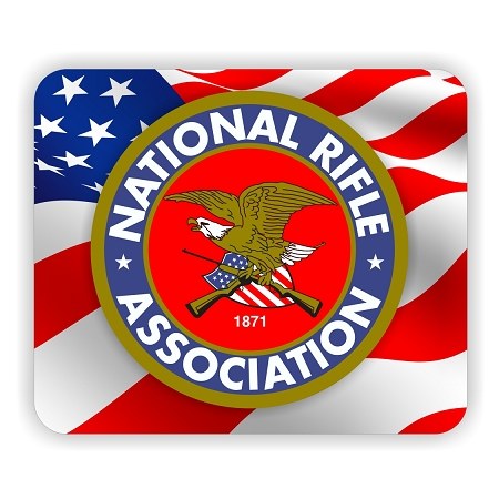 "NRA National Rifle Association Flag Back Mouse Pad 9.25"" X ..."