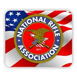NRA National Rifle Association Flag Back  Mouse Pad  9.25