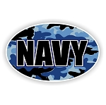 Navy Blue Camo Vinyl Die-Cut Decal / Sticker ** 4 Sizes **
