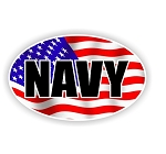 Navy USA Flag Vinyl Die-Cut Decal / Sticker ** 4 Sizes **