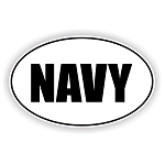 Navy Vinyl Die-Cut Decal / Sticker ** 4 Sizes **