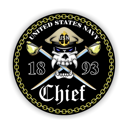 Usn Quot Navy Chief Quot Black Background Vinyl Die Cut Decal