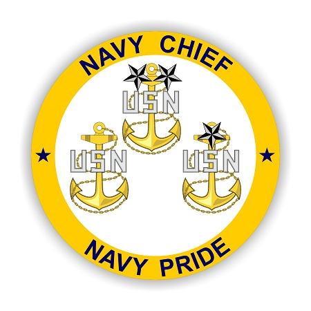 Usn Quot Navy Chief Quot Navy Pride Vinyl Die Cut Decal Sticker