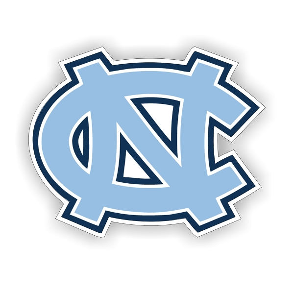 Unc North Carolina Tar Heels Quot Nc Quot Vinyl Die Cut Decal