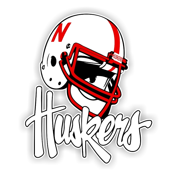 Nebraska Cornhuskers O Die Cut Decal 4 Sizes