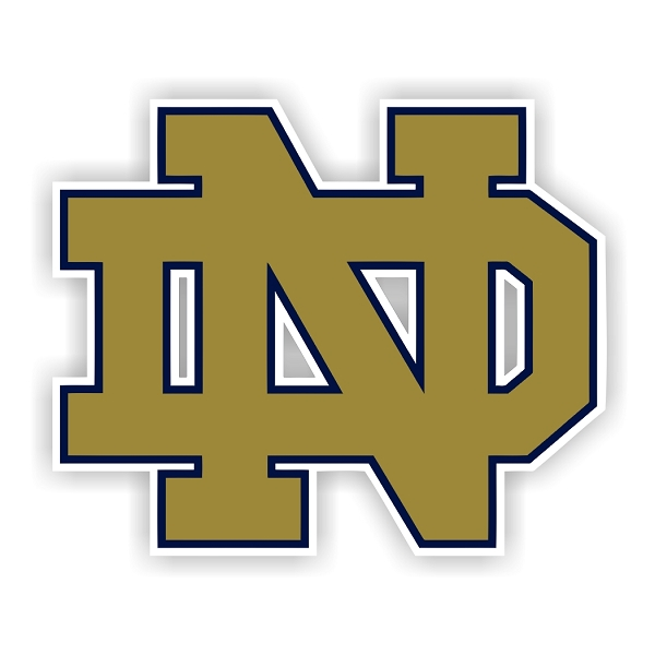 Notre Dame (B) Vinyl Die-Cut Decal / Sticker ** 4 Sizes