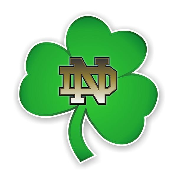 Notre Dame Fightin Irish C Vinyl Die Cut Decal