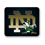 Notre Dame Fightin' Irish (A) Car  Mouse Pad 9.25