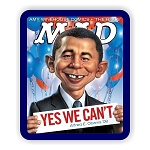 Obama MAD Magazine Cover  Mouse Pad  9.25