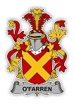 O'Farren Family  Crest Vinyl Die-Cut Decal / Sticker ** 4 Sizes **