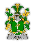 O'Fee Family  Crest Vinyl Die-Cut Decal / Sticker ** 4 Sizes **