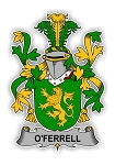 O'Ferrell Family  Crest Vinyl Die-Cut Decal / Sticker ** 4 Sizes **
