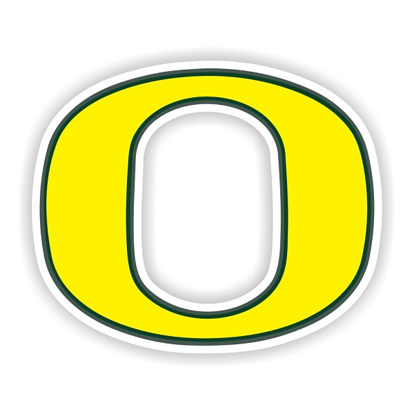 Oregon Ducks E Vinyl Die Cut Decal Sticker 4 Sizes