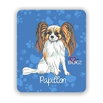 I Love my Papillon Mouse Pad 9.25