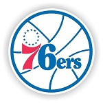 Philadelphia 76ers Round Vinyl Decal / Sticker * 4 Sizes*