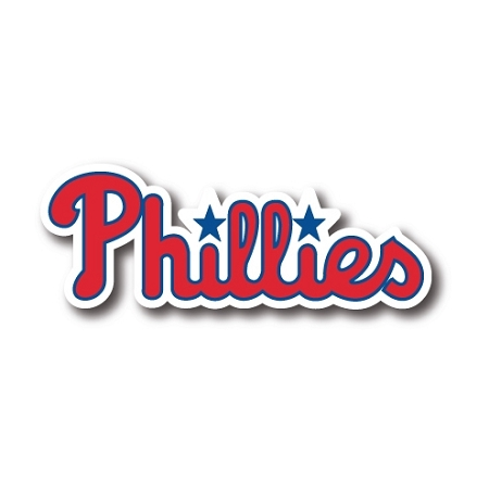 Phillies Writing Vinyl Die Cut Decal Sticker 4 Sizes