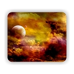 Planet with Moon Mouse Pad 9.25