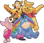 Winnie The Pooh (Group) Die-cut Vinyl Decal / Sticker ** 4 Sizes **
