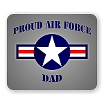 Proud Air Force Dad Mouse Pad  9.25