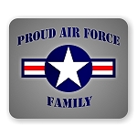 Proud Air Force Family Mouse Pad  9.25