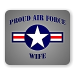 Proud Air Force Wife Mouse Pad  9.25