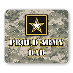 Proud Army Dad Mouse Pad  9.25