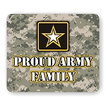 Proud Army Family Mouse Pad  9.25