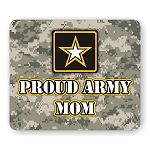 Proud Army Mom Mouse Pad  9.25