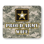 Proud Army Wife Mouse Pad  9.25