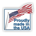 Proudly Made in USA Flag  Vinyl Die-Cut Decal / Sticker ** 4 Sizes **