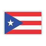 Puerto Rico Flag  Vinyl Die-Cut Decal / Sticker ** 4 Sizes **