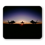 Raptor Planes Sunset Mouse Pad  9.25
