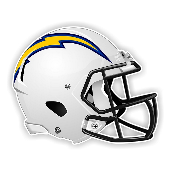 San Diego Chargers New Shape Helmet Die Cut Decal 4