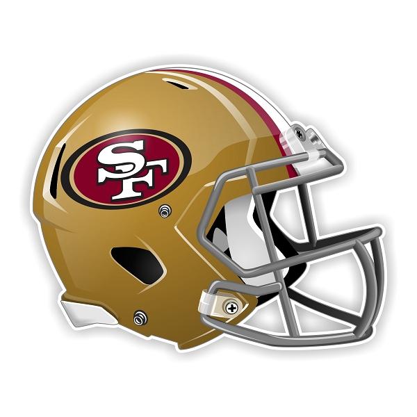 San Francisco 49ers New Shape Helmet Die Cut Decal 4