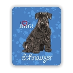 I Love my Schnauzer (Black) Mouse Pad 9.25