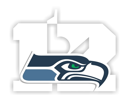 Seattle Seahawks 12th Man Logo Vinyl Die-Cut Decal ** 4 ...