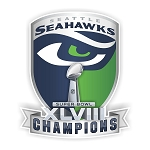 Seattle Seahawks Champion Superbowl XLVIII Die-Cut Decal ** 4 Sizes **