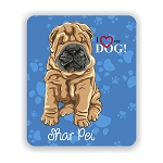 I Love my Shar Pei Mouse Pad 9.25