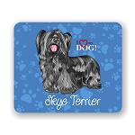 I Love my Skye Terrier Mouse Pad 9.25