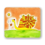 Snail Family Mouse Pad 9.25