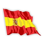 Spain Espa?a Flag Waving Vinyl Die-Cut Decal / Sticker ** 4 Sizes **